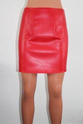 BNWT White fake leather mini skirt various lengths