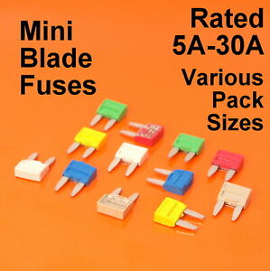 Di alta qualità Mini Lama Fusibile Fusibili Per Auto Van Bici - 5A 10A 15A 20A 25A 30A