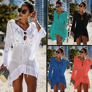 Summer-HOT-Women-Beach-Dress-Swimwear-Lace-Crochet-Bikini-Cover-Up-Bathing-Suit