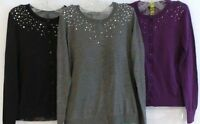 Central Park West York Womens Cardigan Sequined Sweater