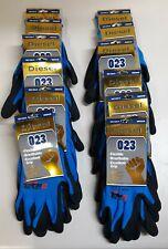 12 Pair Diesel Blue Safety Gloves Latex Coated Grip