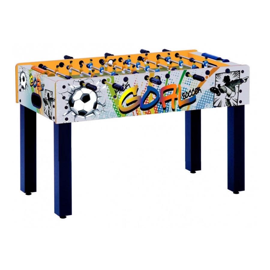 Calcio Balilla F-1 con grafica GOAL GARLANDO aste rientranti art. F1RGOAL