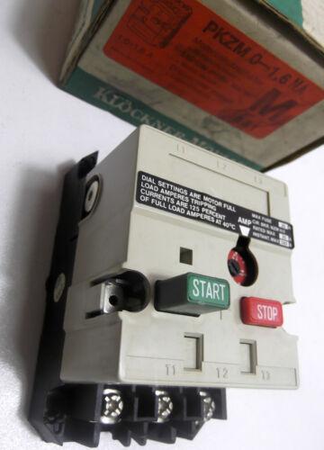 KLOCKNER MOELLER PKZM0-1,6NA   0.1AMP-0.16AMP MOTOR STARTER PKZMO-1,6NA