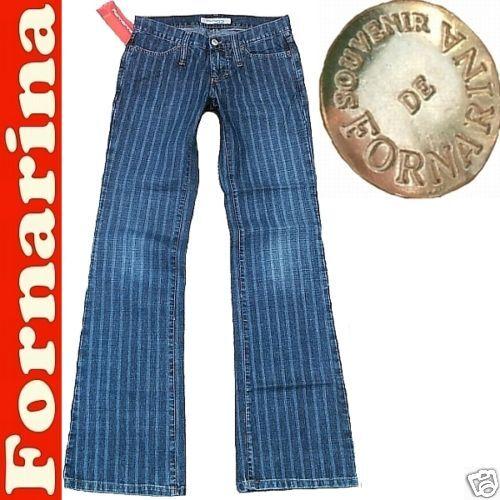 Elegante business gessato jeans pantaloni w27 l34 d:36