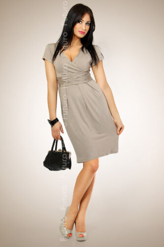Magnificent Women/'s Dress Tunic V-Neck Stretchy Short Sleeve All Sizes FT834