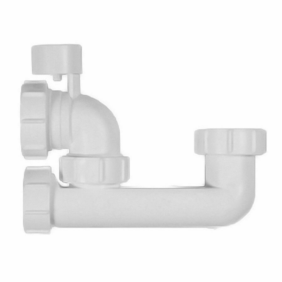 White Polypipe WT67 Low Level Bath Trap with 38 mm Overflow Access Seal