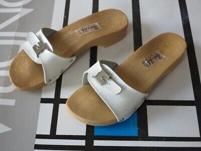 Clogs Sandalo Scarpe Balneare 40 Bianco 80er True Vintage 80s Bathing Shoe Sandals Nos-mostra Il Titolo Originale