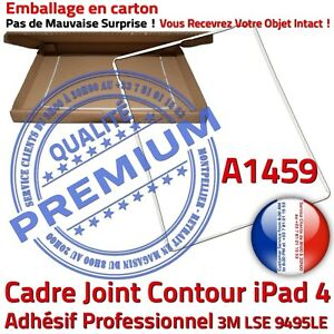 iPad-A1459-Cadre-Blanc-Joint-Plastique-ABS-Contour-Vitre-Tactile-Chassis-Adhesif