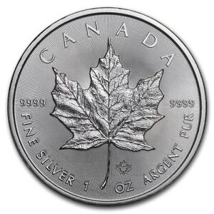 CANADA-5-Dollars-Argent-1-Once-Maple-Leaf-2019