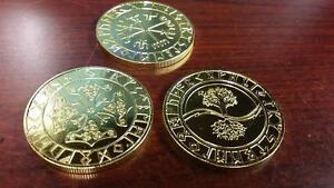 VALHALLA-Collection-VIKING-Runes-coin-lot-x-3-Thor-Hammer-Compass-Talisman-Raven