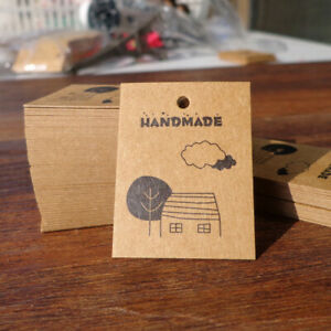 100-Pcs-Kraft-Paper-Gift-Tags-Cartoon-Handmade-Mini-Cards-Hang-DIY-Paper-Labels