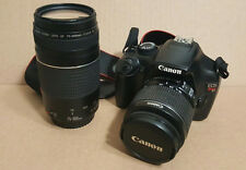 Canon Rebel T3 EOS 12.2MP Digital SLR Camera w/ EFS 18-55mm & EF 75-300mm Lens