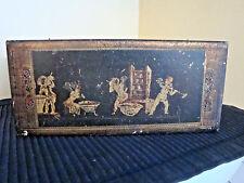 Vtg Florentine Italian Tole Ware Wood Gold Gilt Cherub/Putti Glove/Trinket Box