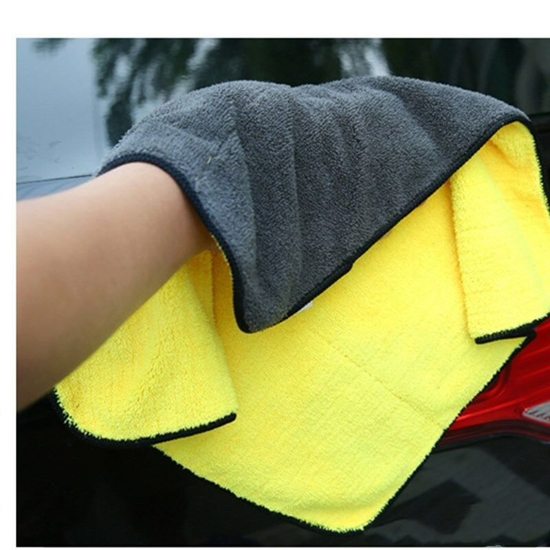 Car Drying Wash Towel Microfiber Cleaning Buffing Cloth Lint Free Premium Professional Soft Super Absorbent Ultra Thick Towel Polishing Waxing Dusting Multipurpose 1200 GSM