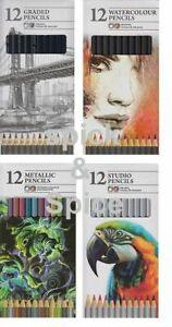 12-Sketching-Pencils-Drawing-Tones-Shades-Art-Artist-Graded-Studio-Water-Colour