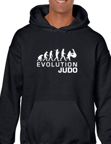 Evolution avec et blanc Judo cadeau noir Sweat drôle capuche capuche à NZ0XOk8nPw