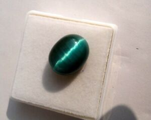 Details about  /70 Ct Natural Blue Oval Cabochon Chrysoberyl Cats Eye Gemstone