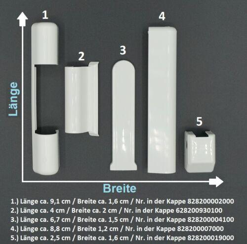 pour plastique Fenêtre blanc 5 pièces 1 Pièces Roto NT Abdeckkappenset