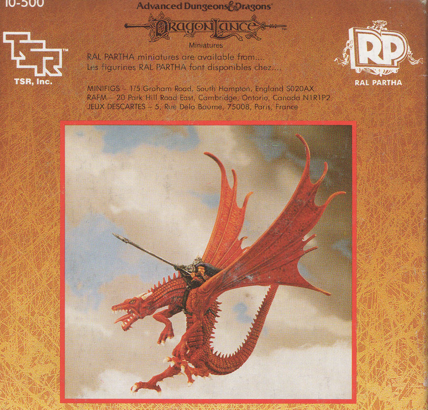 AD &D Draklans miniatyr Ral Pkonstha 10 -500 röd drake AV KRYNN -miniatyrer