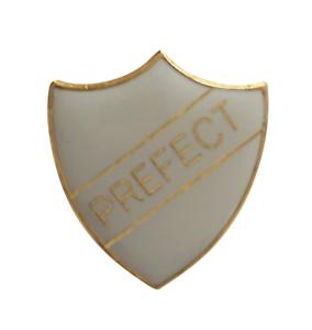 Prefect White Pin Badge For Schools