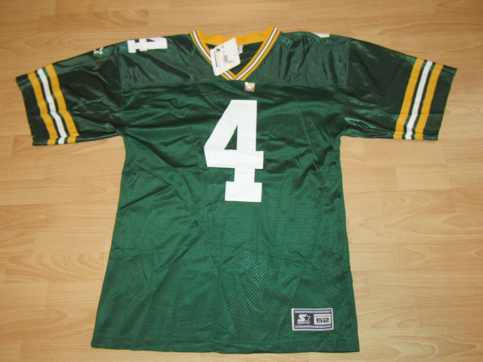 verde Bay Packers Brett Favre Home Original Starter Camiseta Tamaño
