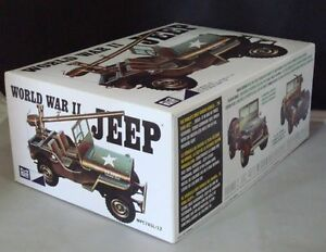 2012-MPC-785-1-25-World-War-II-Military-Jeep-Military-Model-Kit-new-in-the-box