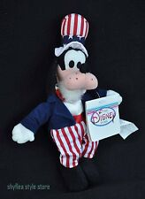 Goofy Uncle Sam Disney Bean Bag Plush Tags Blue Plush July 4th Americana New