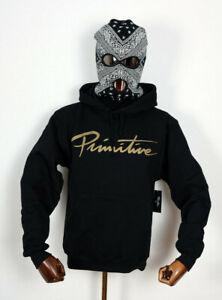 Primitive-Skate-Skateboards-Hooded-Hoodie-Sweater-Sweatshirt-Nuevo-Script-in-M