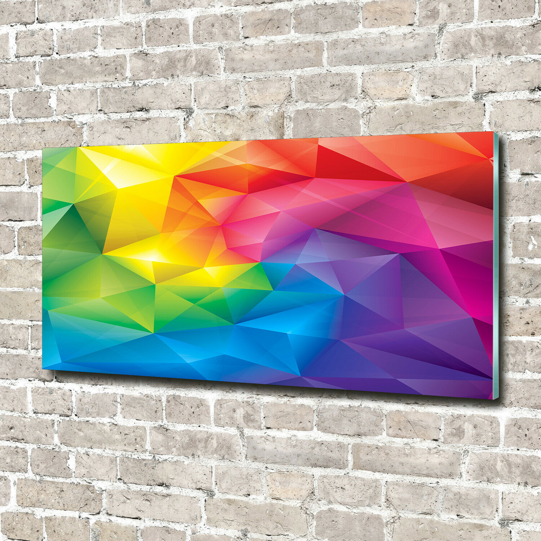 Wandbild aus Plexiglas® Druck auf Acryl 140x70 Kunst Abstraktes