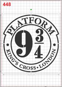 harry potter platform 9 3 4 stencil mylar a4 sheet strong reusable art craft ebay ebay