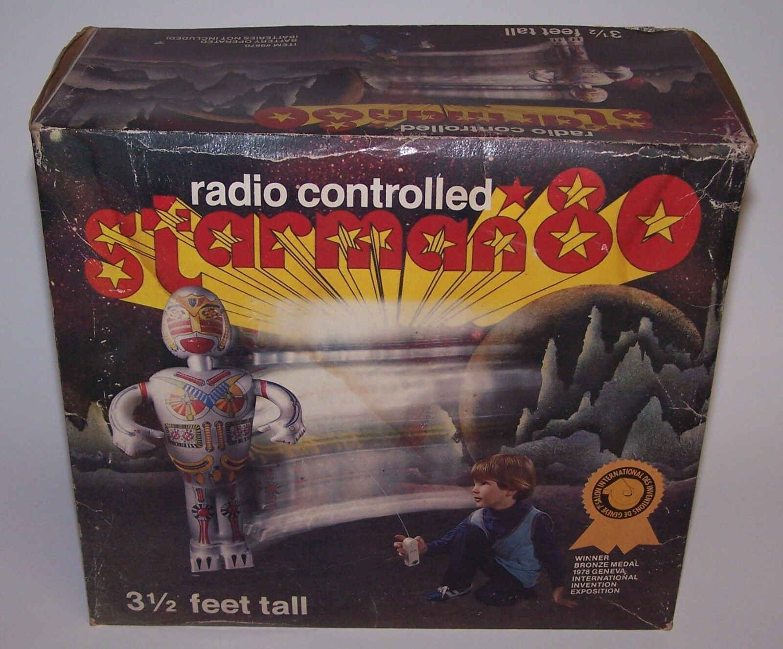 Starman 80 Electronic Remote Controlled Blow Up Robot 3.5 Feet Tall 1979 NIB