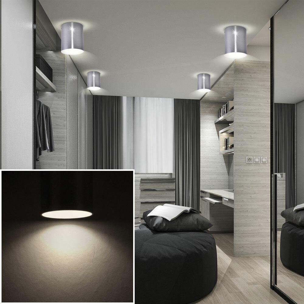 4er Set LED Aufbau Strahler Decken Beleuchtung Wohn Zimmer Lampen Alu Living-XXL