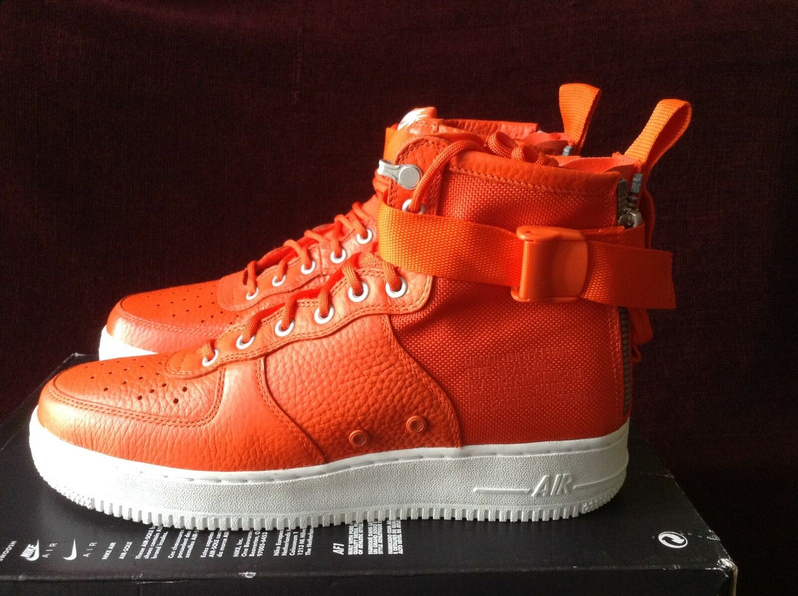 Nike SF AF1 Mid Team orange 917753-800 Size 10