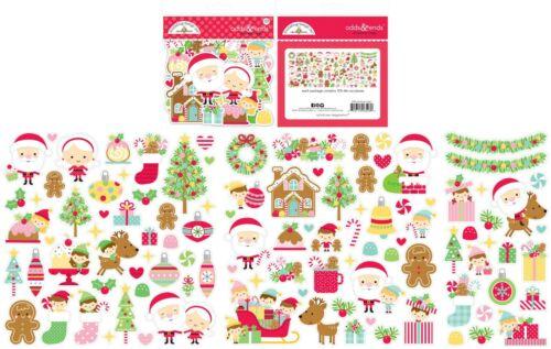 Nuevo Doodlebug Navidad Magic probabilidades y finaliza dado corta