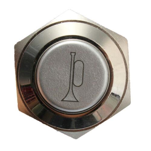 Blau LED Momentan Taster Metall Schalter Auto Boot Bell Horn CR