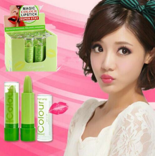 Waterproof Changable Color Magic Fruity Smell Cream Lipstick Lip