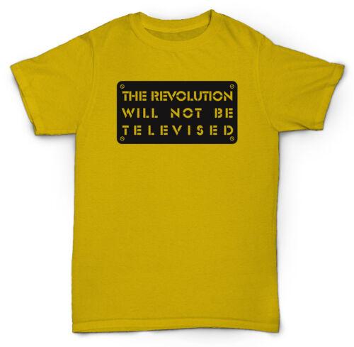 BLACK JAZZ RARE SOUL GIL SCOTT HERON T SHIRT REVOLUTION WILL NOT BE TELEVISED