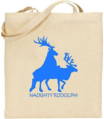 Ungezogen Rudolph Groß Baumwolle Einkaufstasche Weihnachten Bag Lustig Rentier
