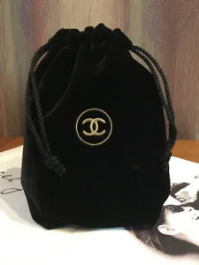 Details About Chanel Vip Gift Travel Velvet Drawstring Bag