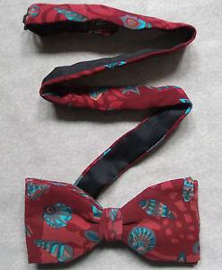 Bow Tie Homme Soie Nœud Papillon Réglable Frederick Theak Dickie Rouge Obus-afficher Le Titre D'origine Soyez Astucieux Dans Les Questions D'Argent