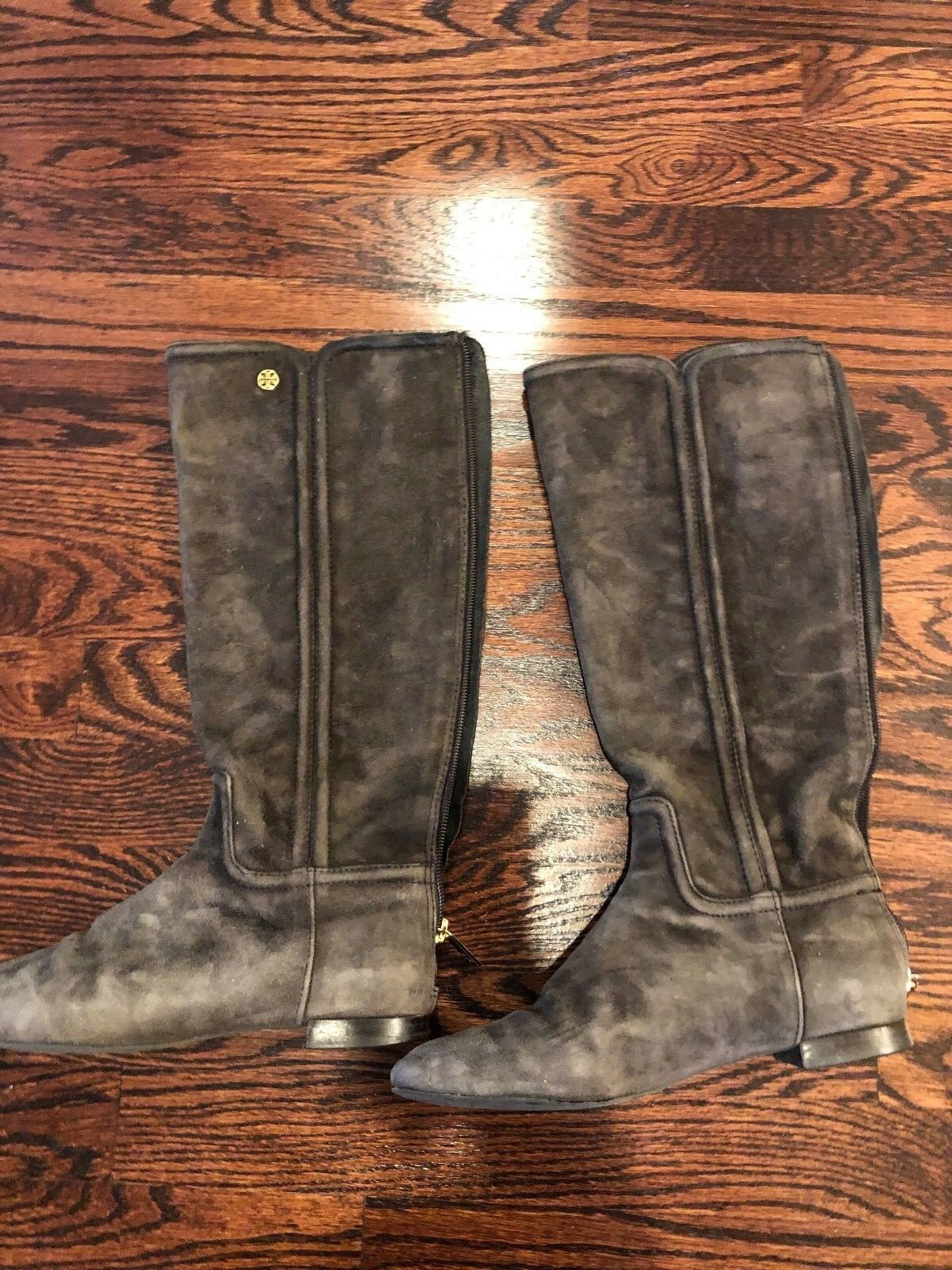 Tory Burch Brown Suede Riding Boots - Size 7.5