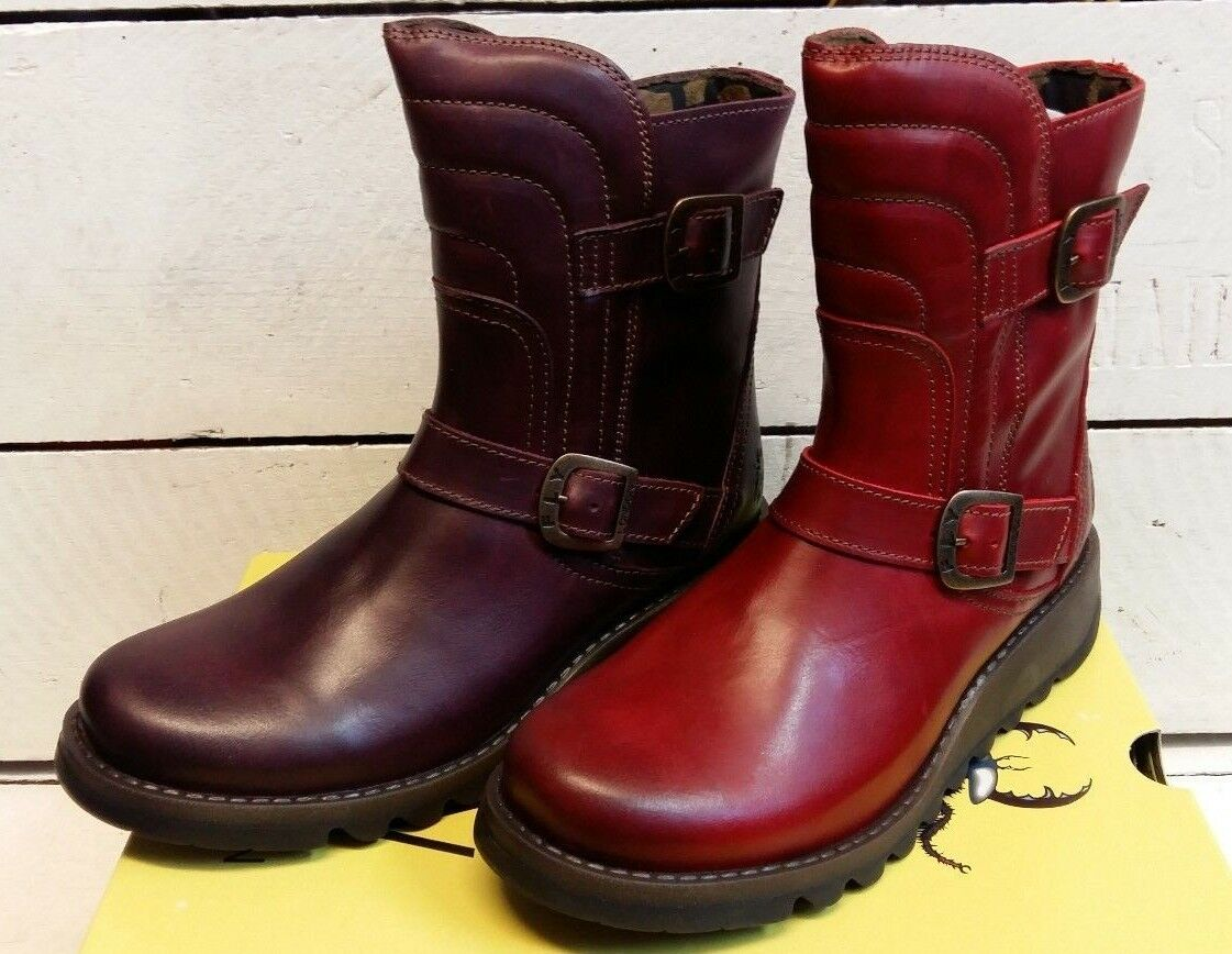 Ladies Fly London Sven 731FLY Leather botas Zip Up botas Leather 794e85