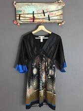 Laundry By Design Women's Dress Japanese Style 100% Silk Midi Dress Sz S
