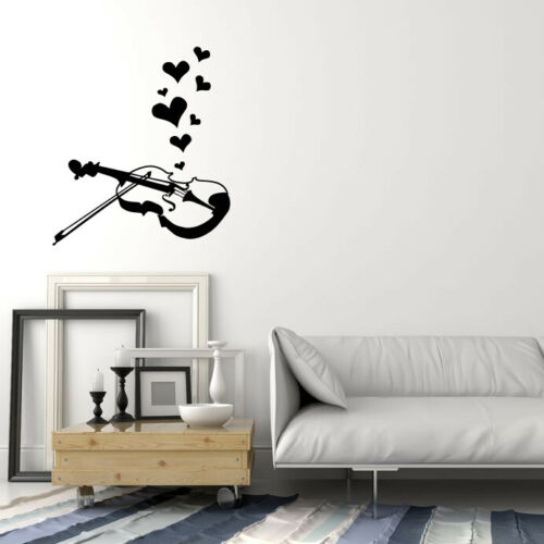 3831ig Vinyl Wall Decal Violin Music Instrument Shop Love Song Stickers