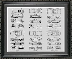 Blueprint art mercedes benz auto collection car art gift print image is loading blueprint art mercedes benz auto collection car art malvernweather Gallery