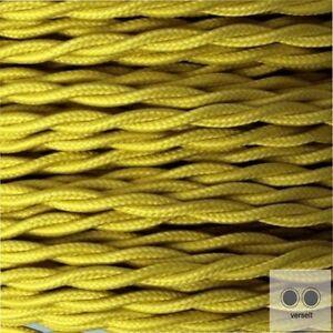 Textilkabel Stoffkabel Meterware Farbe Hellblau 2 adrig 2 x 0,75 mm² verseilt