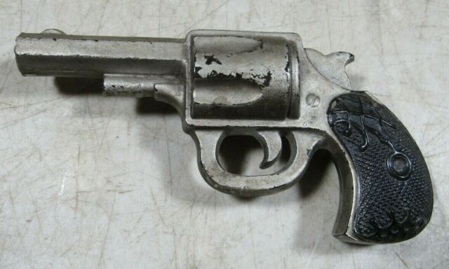 Rare Antique Harrington & Richardson Glass Revolver Pistol Gun Store  Display H&R