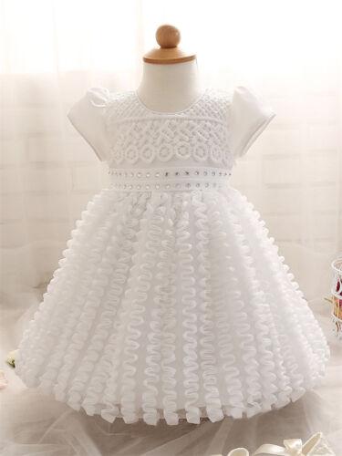 Baby Toddler Girl Flower Party Baptism Christening Wedding Formal Occasion Dress