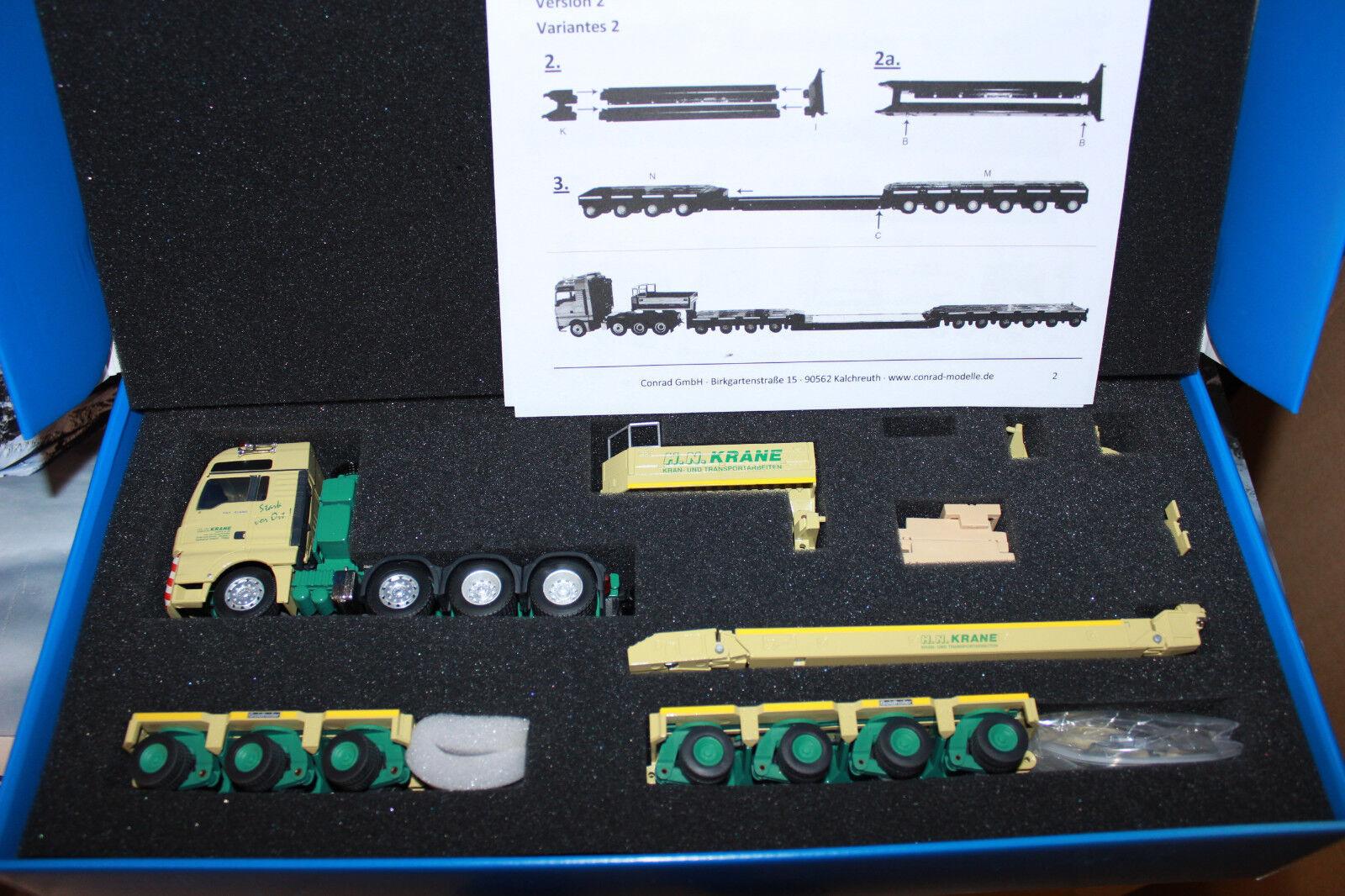 KK Conrad 70200 MAN TGX 8x4 + orHOFER fuyaient col de Sygne HN 3+4 axe THP KK