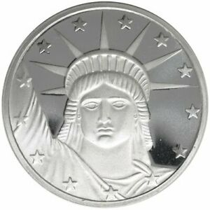 1-1-oz-999-Fine-Silver-Round-Statue-of-Liberty-BU-New